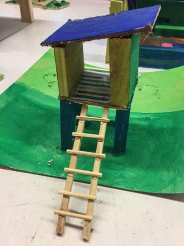 Kinder bauen eine Stadt